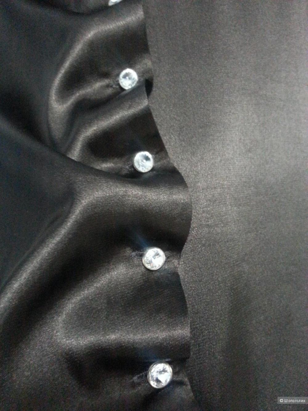 Блуза атласная шоколадная размер Л