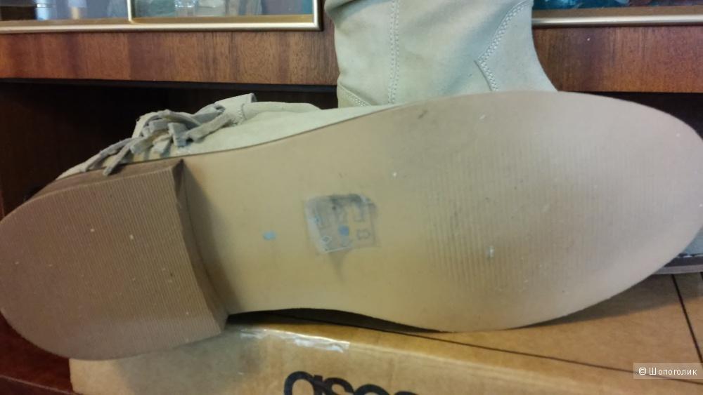 Ботинки замшевые ASOS, 40 размер