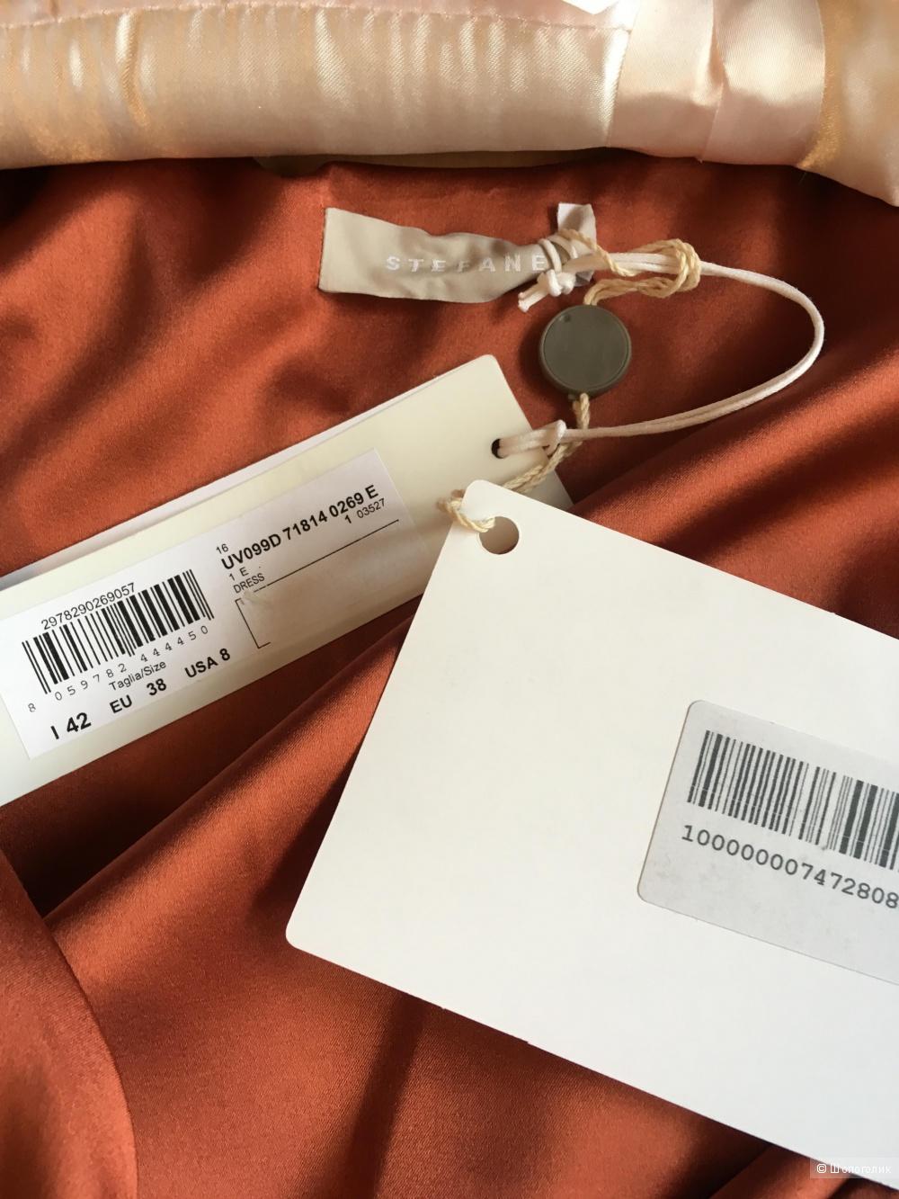 Шелковое платье Stefanel, S, новое с этикетками