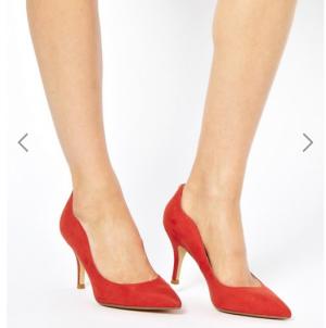 Новые красные туфли-лодочки на каблуке Faith (7 UK)