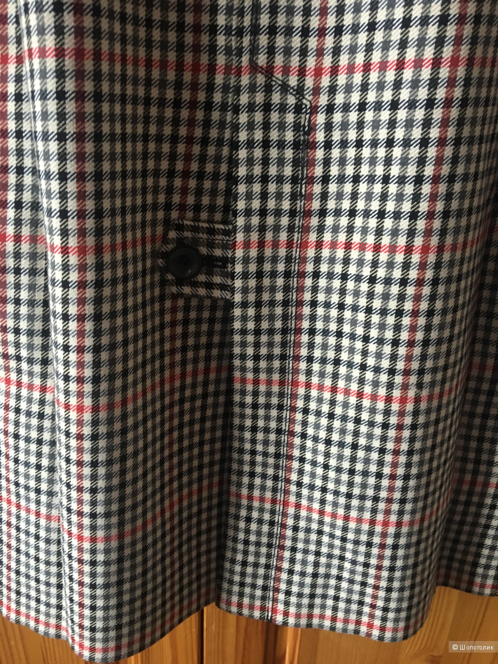 Легкое пальто в мелкую клетку Zara, размер M