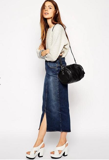 Новая джинсовая юбка-карандаш ASOS (14 UK)