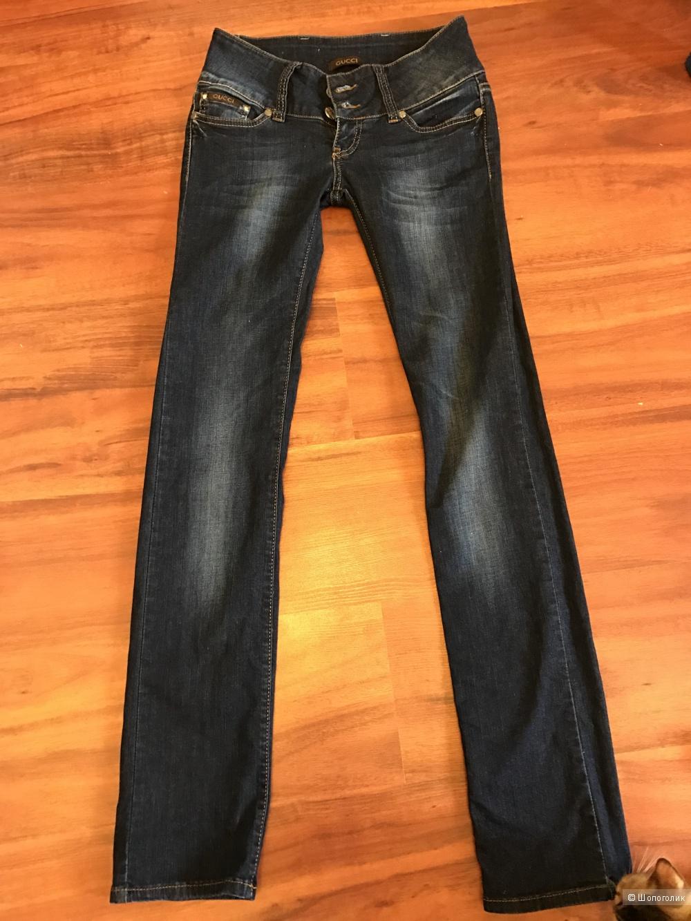 Джинсы Gucci размер 27 с ремешком Италия Оригинал одеты 1 раз