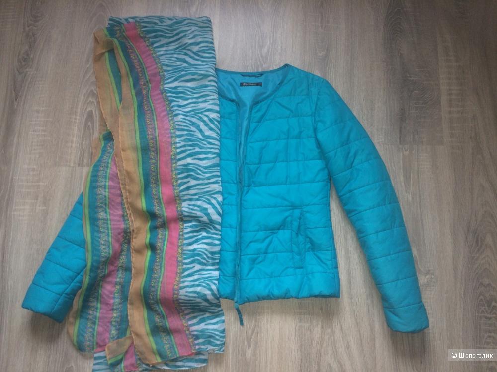 Куртка Kira Plastinina +шарфик, 42 размер