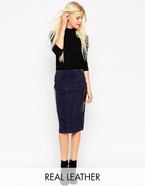 Замшевая юбка ASOS (42-44 размер)