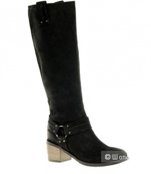Известные сапоги ASOS CHOCOLATE CHIP Leather Knee High Boots with Mid Heel UK6