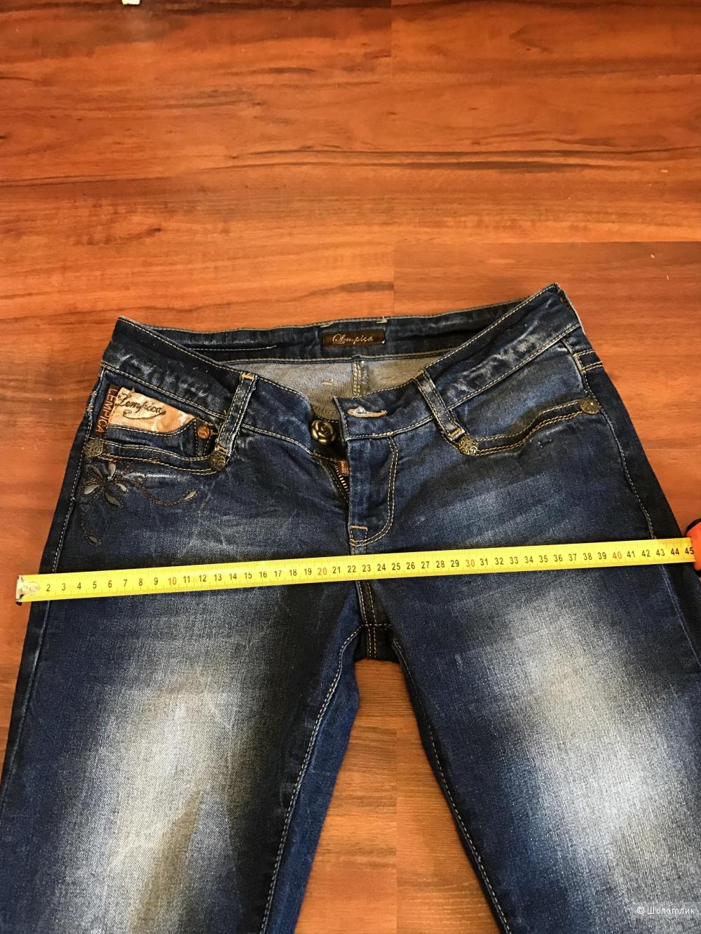 Новые джинсы Lempica цвет темно-синий, красивая фурнитура размер 28 Турция