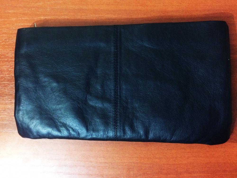 Новый чёрный кожаный клатч ASOS
