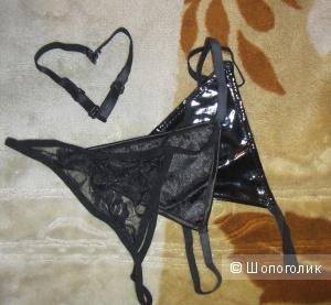 Набор эротичных чёрных стрингов