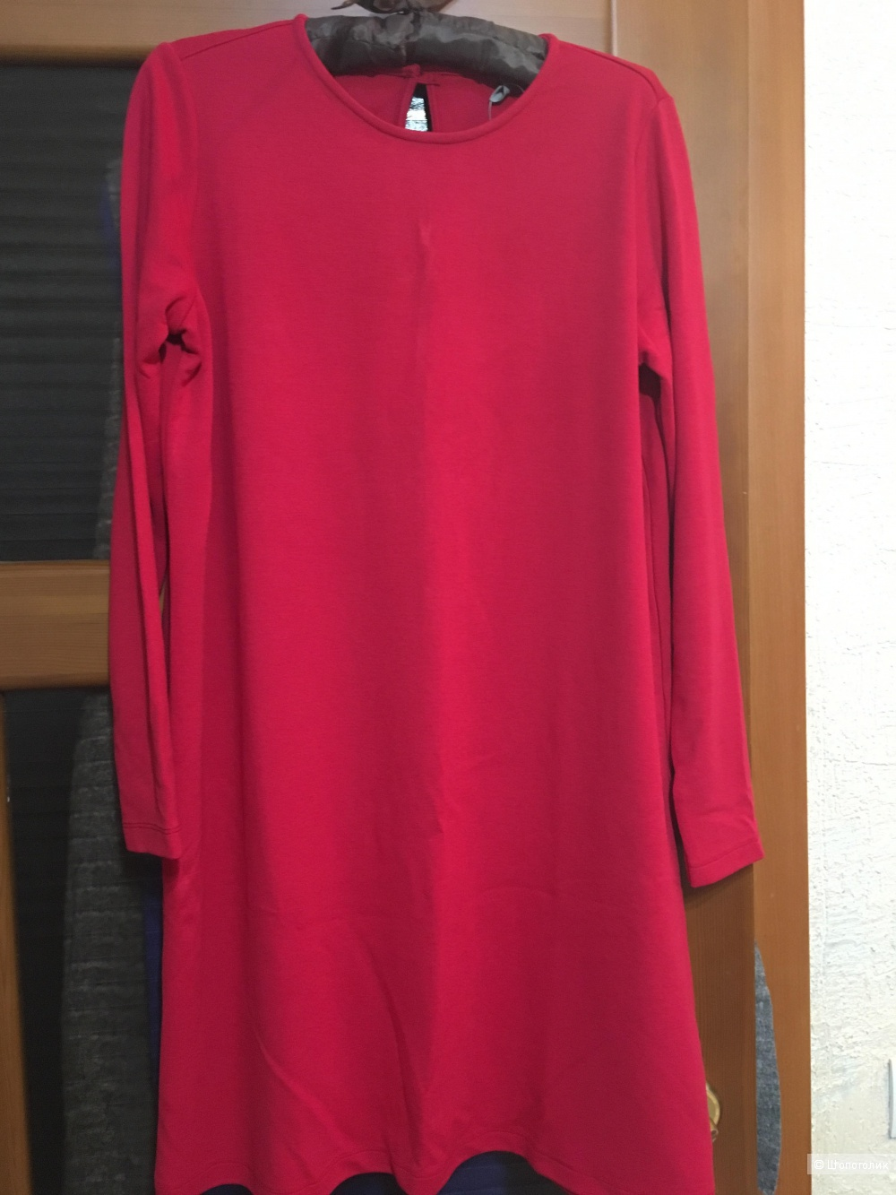 Трикотажное платье-мешок на 46-48