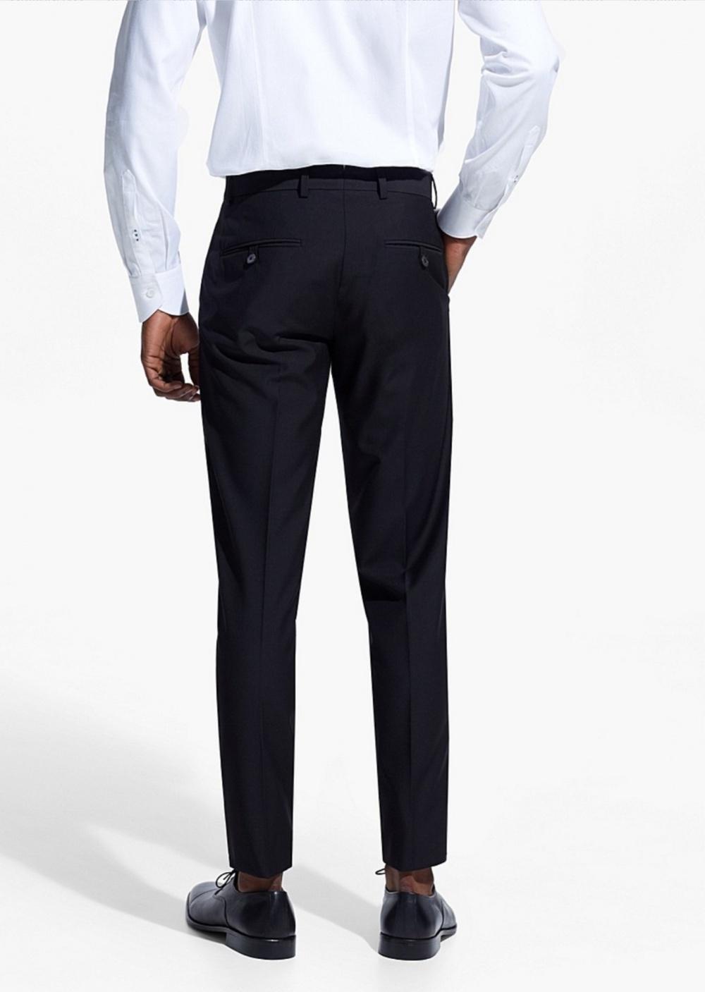Классические черные мужские брюки, молодежный стиль, H.E. by Mango Man, на рос. 48/EUR 44 р, б/у 1раз
