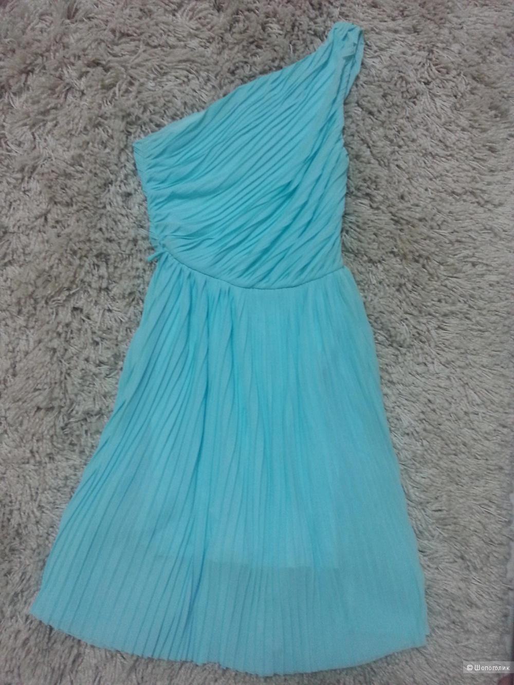 Платье коктейльное плиссированное xxs размер