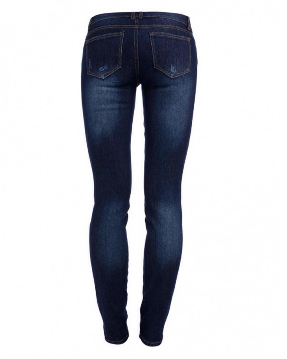 Женские джинсы темно-синего цвета, Slim Fit, низкая талия, на 28 (44 рус), Incity
