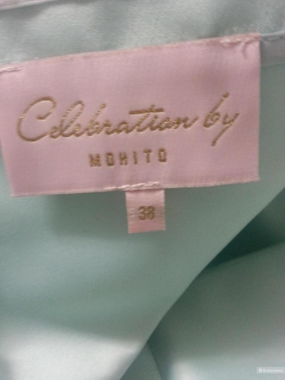 Платье коктейльное мятного цвета 44 размера