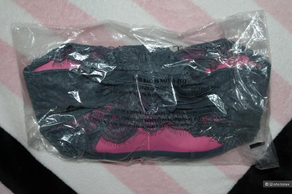 Victoria's Secret Pink, бралетка с пуш-апом, размер S2, серая