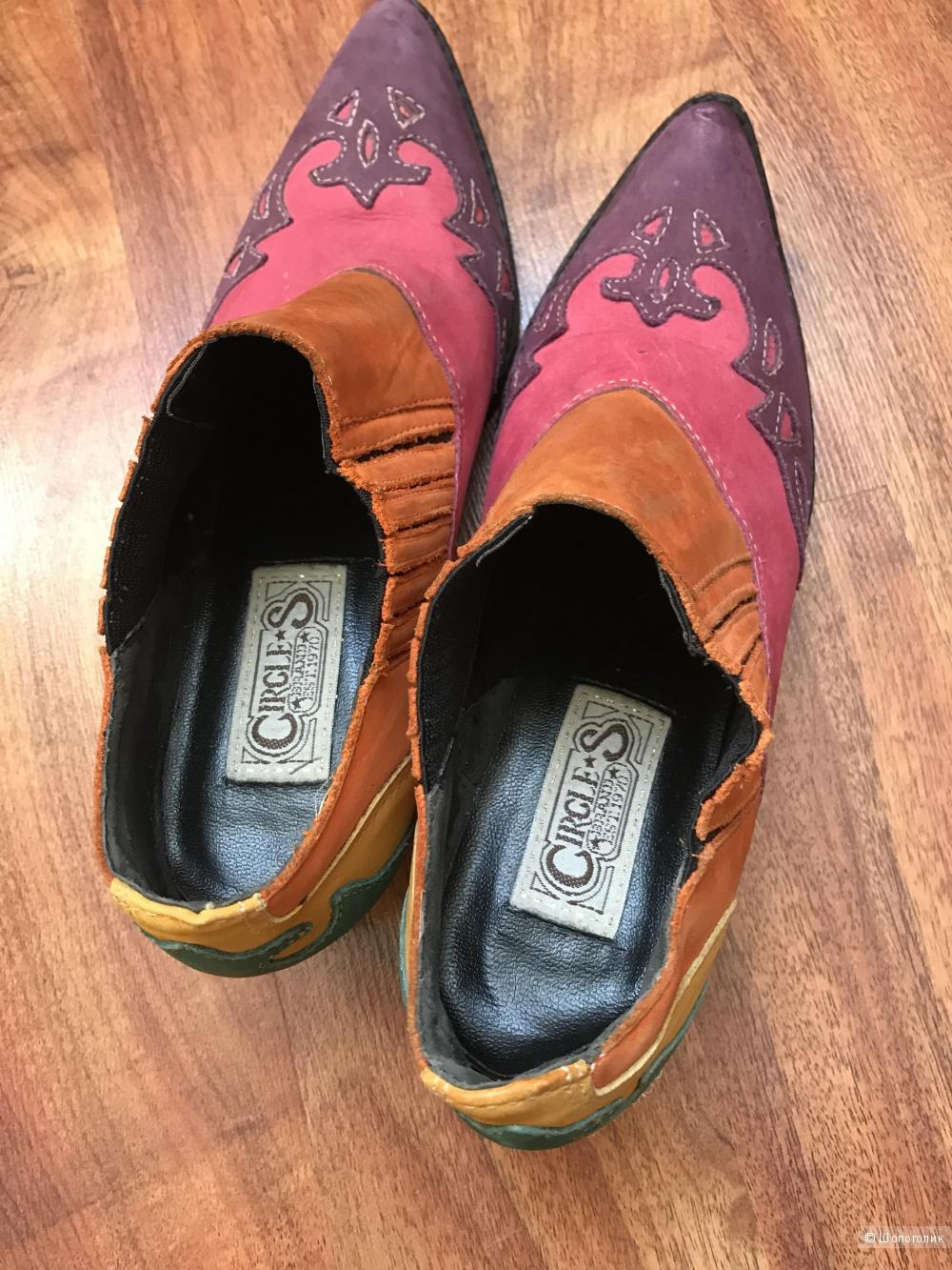 """Эксклюзивные ботиночки модель """" казаки"""" фирма Circus куплены в Бразилии размер 38 EU( на наш 37) стелька 23,5-24"""
