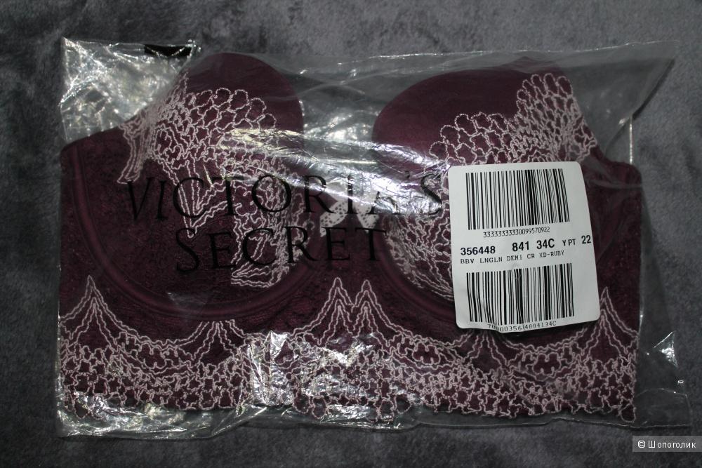 Victoria's Secret бюстье 34С, цвет бордо (Ruby wine)