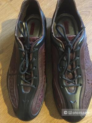 Спортивные кожаные туфли Ecco 38 размер