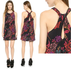 Платье с роскошным цветочным принтом Alice+Olivia / XS-S