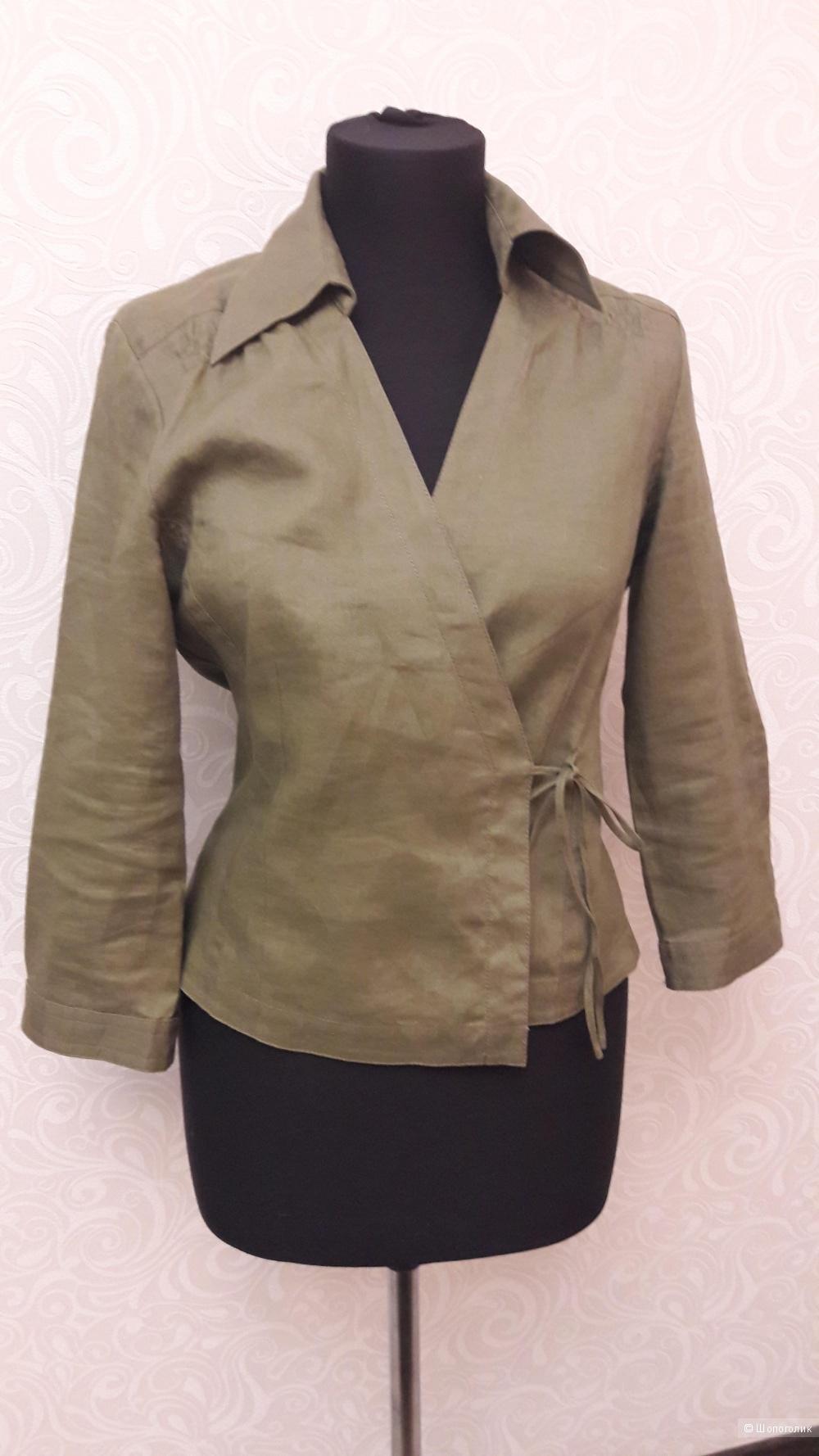 Mexx: льняной пиджак-туника с запахом, 38