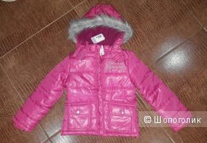Куртка утепленная на девочку 6-7 лет.