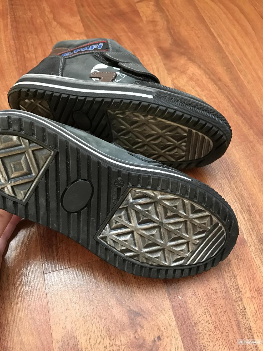 Ботинки демисезонные Kemal Pafi 33( стелька 21,5) на 34 ортопедические натуральный нубук Турция