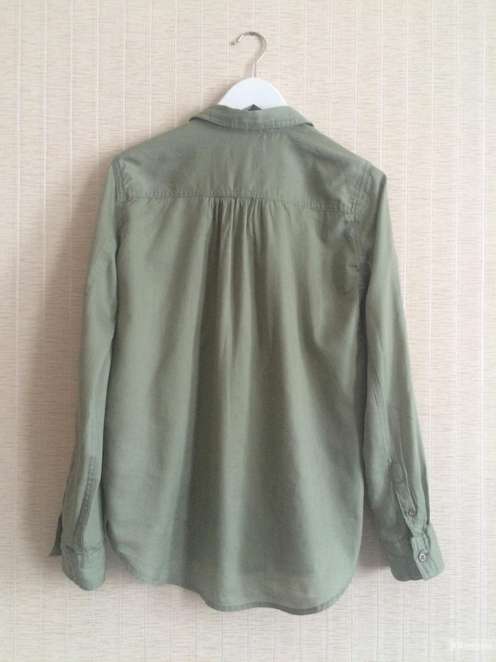 Новая рубашка H&M (коллекция L.O.G.G.) цвета хаки. Размер 40-42.