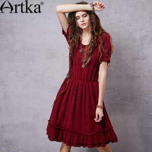 Artka дизайнерское платье в бохо стиле, китайский размер M.
