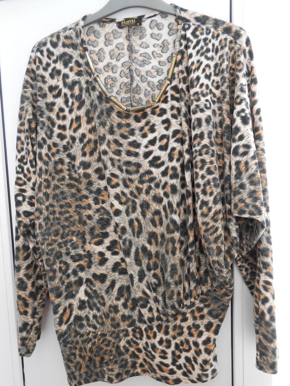 Леопардовая кофточка р. 46- 48