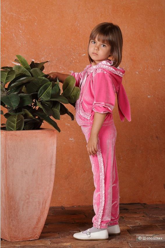 Велюровый комплект на девочку (новый) на рост 74-92 см
