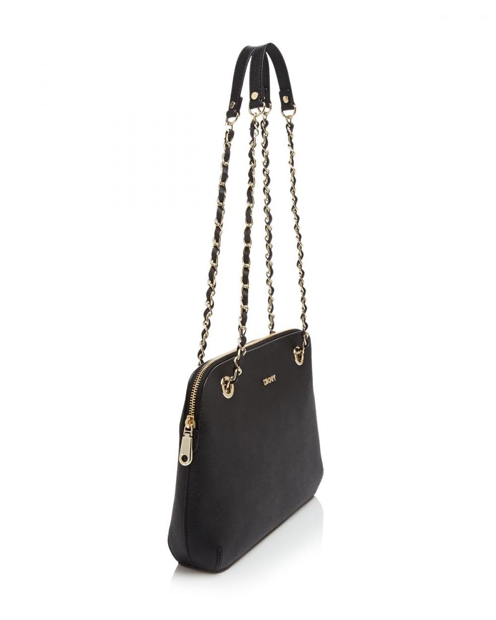 Новая кожаная сумка DKNY