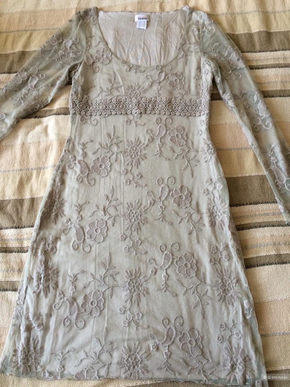 Бежевое платье от Linea Tesini