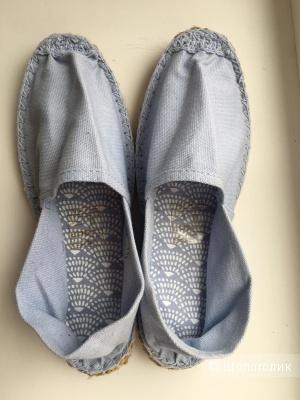 Эспадрильи текстильные размер 36