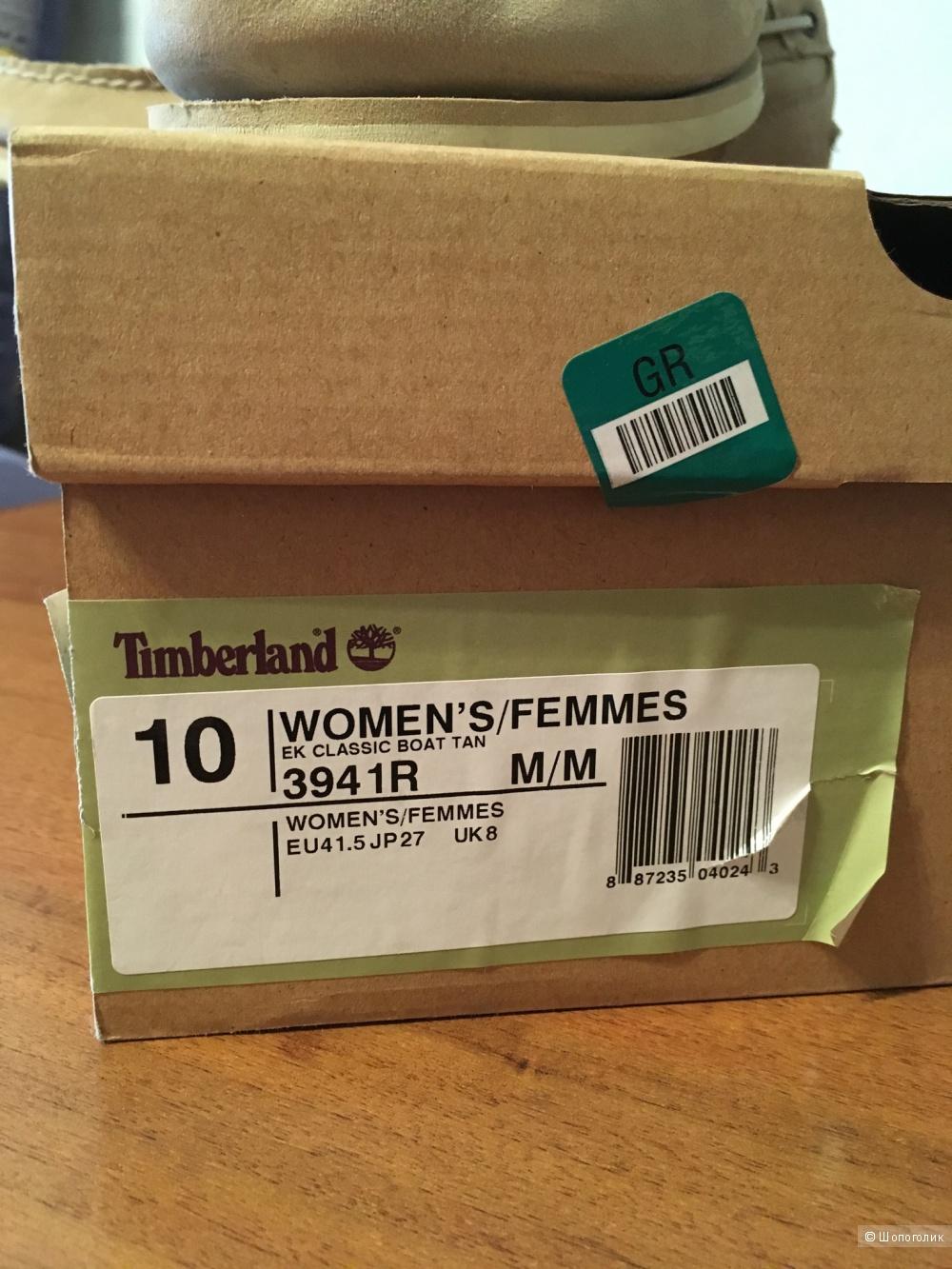 Мокасины Timberland женские, размер US 10