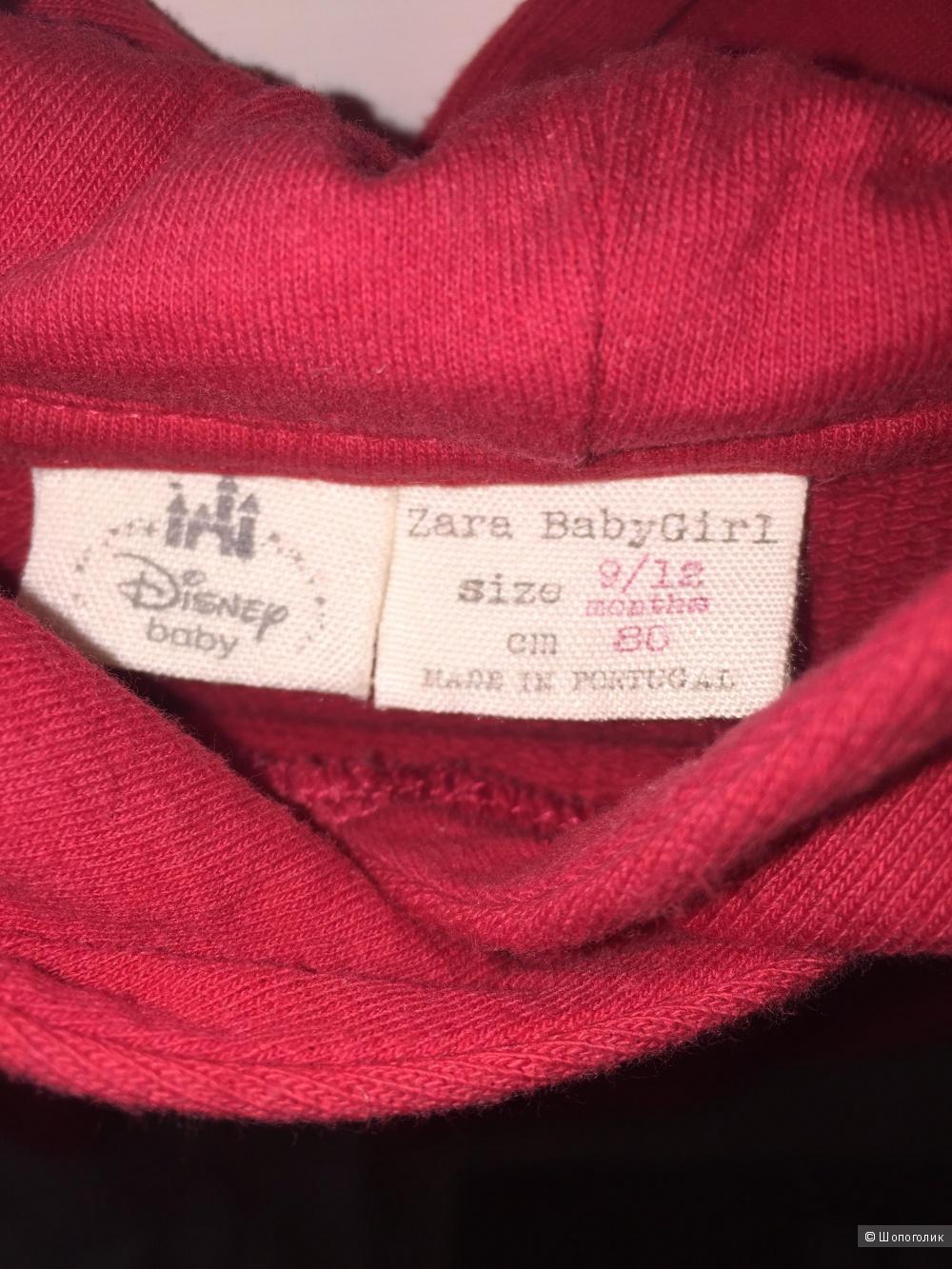 Красная толстовка для девочки Zara 80