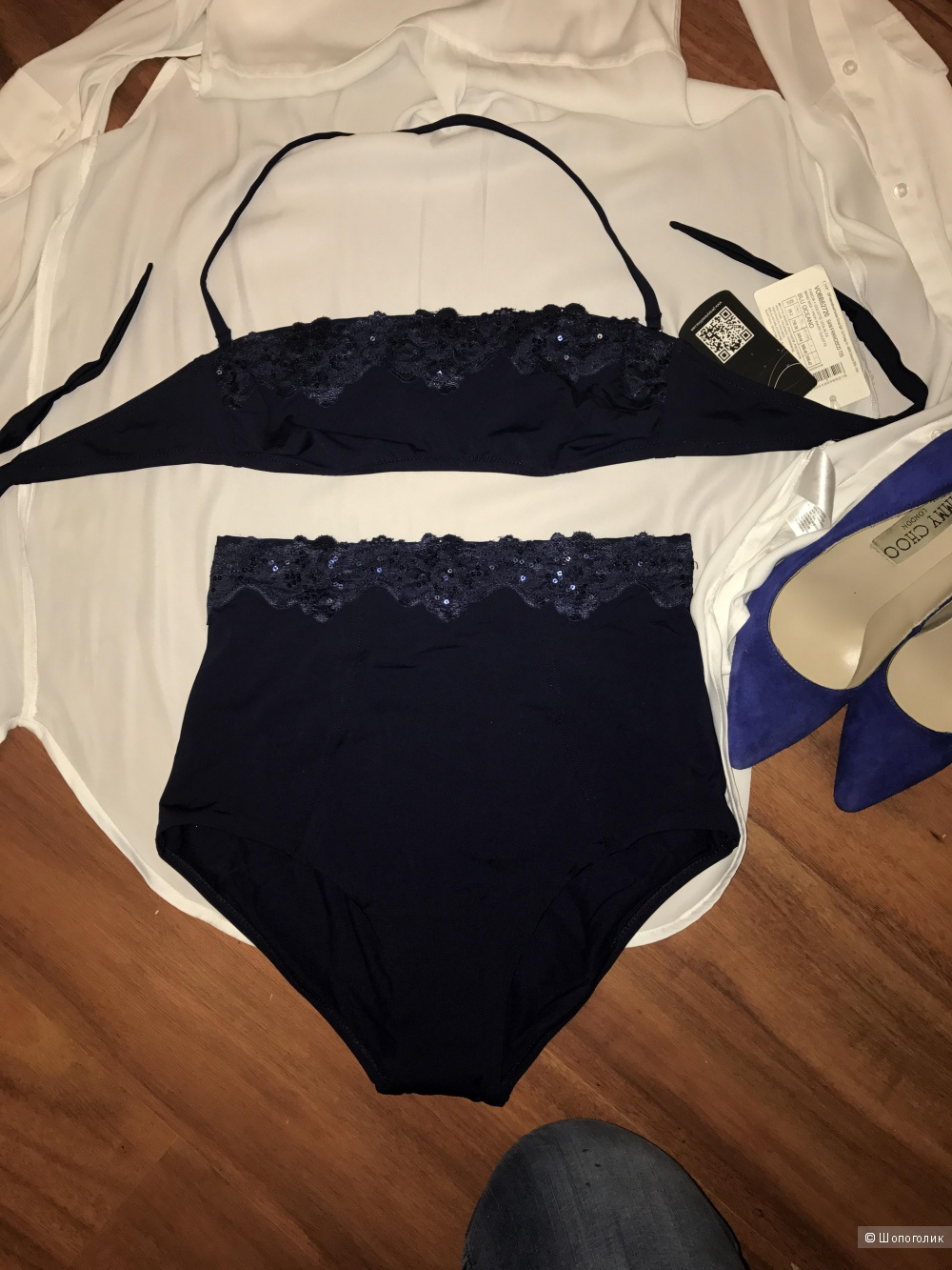 Абсолютно новый купальник бренд OROBLU Jersey Lomellina San Francisco цвет темно-синий размер 75B-38 Италия