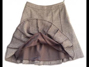Теплая юбочка на весну, женственная модель, на 42 р, Savage, б/у 1сезон