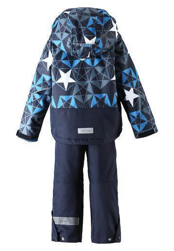 Новый утепленный комплект на мальчика Reima Kiddo Sterope (темно-синий со звездами), р.110