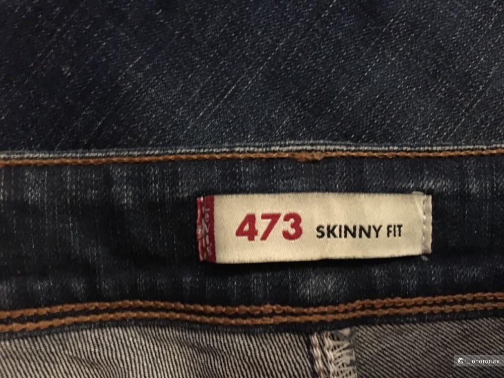 Джинсы LEVI STRAUSS, р.46, темно синие, Levis 473 Skinny fit