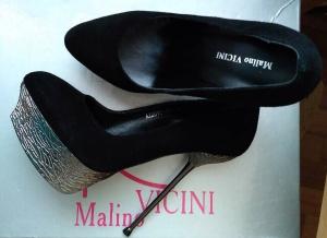 Роскошные туфли на шпильке Malino VICINI (Италия). Р-р 36,5-37