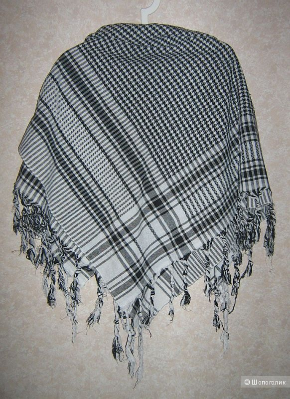 Арабский новый черно-белый платок шемаг (арафатка)