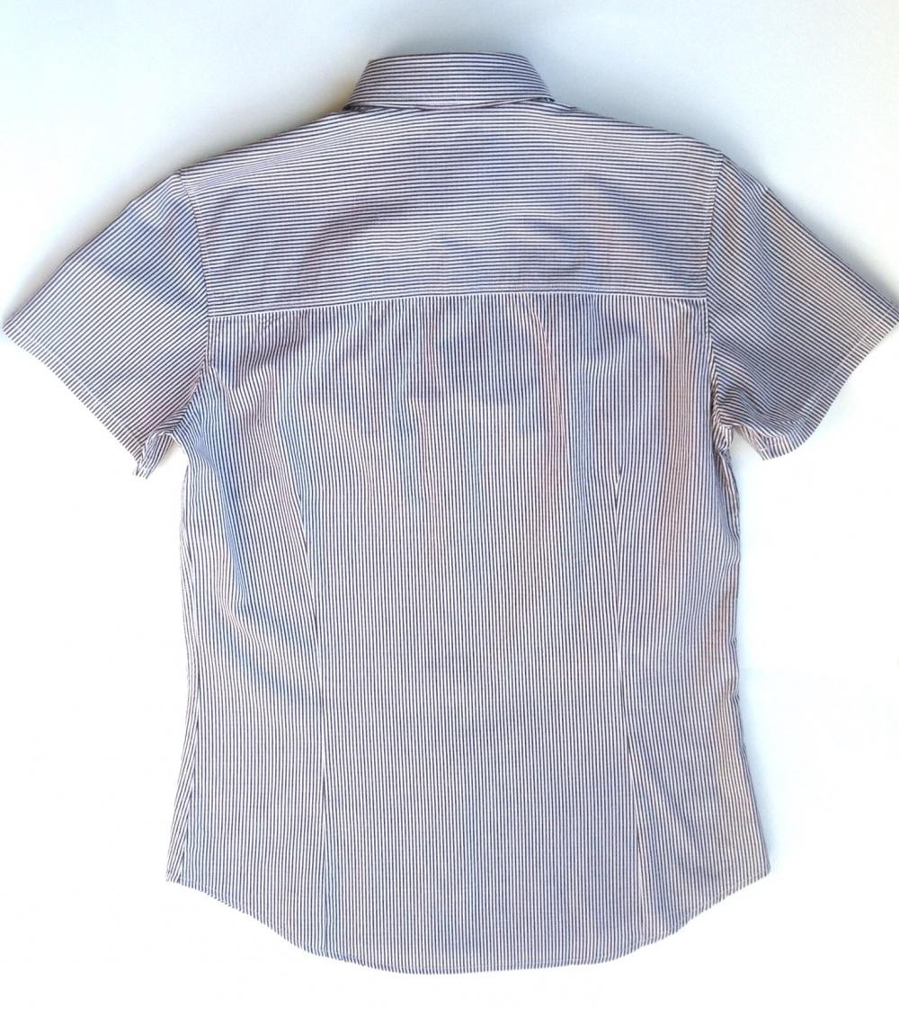 Рубашка мужская с коротким рукавом, SISLEY, на 46 р, б/у 2 раза