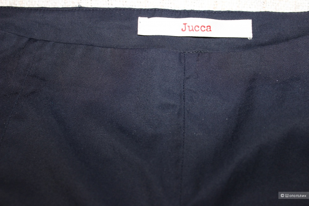 Брюки JUCCA, Италия, размер производителя 46 (На 46-48 Rus), цвет темно-синий.