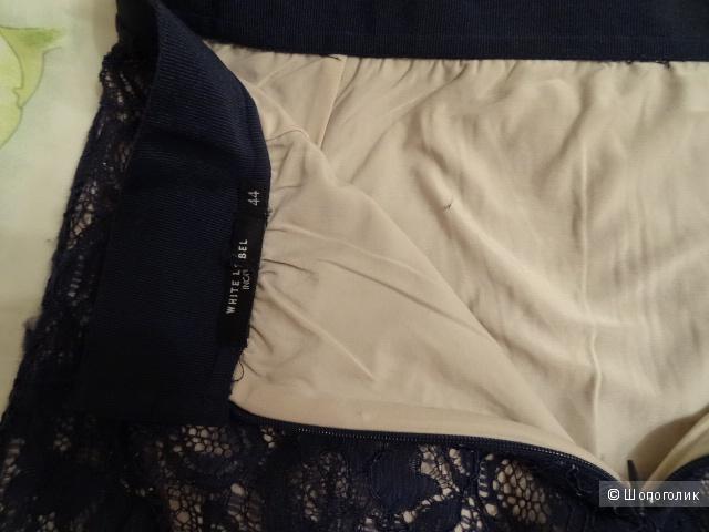 "Юбка кружево в синем цвете ""Инсинити"", размер 42-44, б/у"