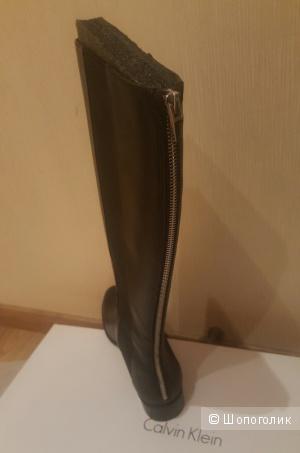 Новые кожанные сапожки Calvin Klein. Размер ru4 0. US 9.5