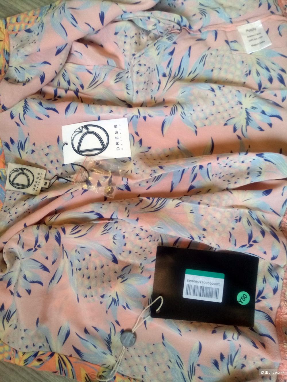 Новая шелковая блузка DRESS GALLERY, 38 FR