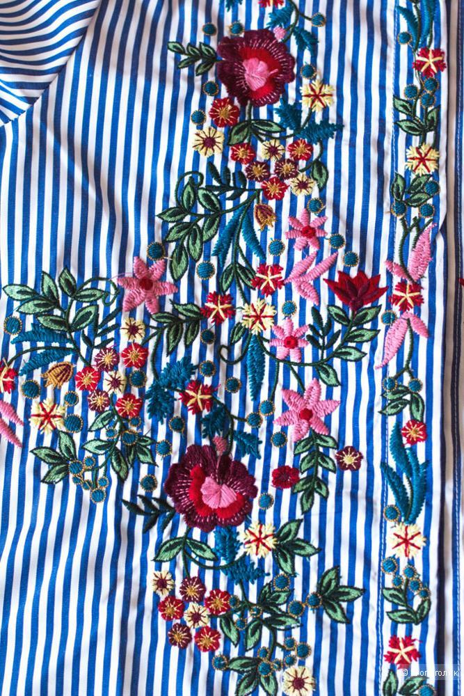 Рубашка с вышивкой в стиле zara