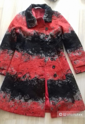 Пальто Desigual шерсть, размер 44