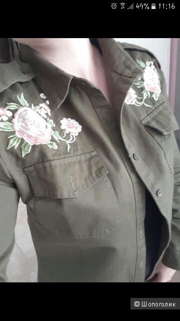 Рубашка джинсовая с вышивкой в стиле Zara