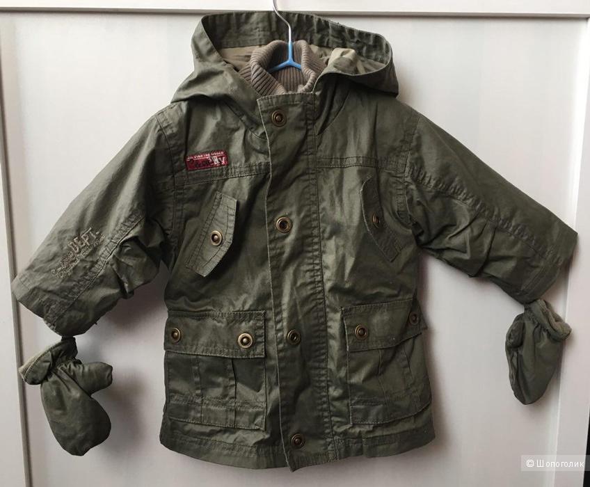 Новая куртка Absorba на 6-12 мес с утеплителем.